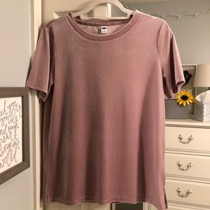 Old Navy Pink Suede Shirt - S